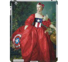 Lady Captain America, 18th Century Style iPad Case/Skin