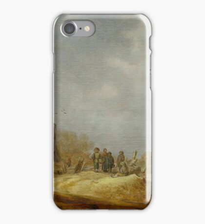 GOYEN, JAN VAN (Leiden  Haag) Dune landscape with the Eik en Duinen ruins iPhone Case/Skin