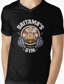 Saitama's Gym Mens V-Neck T-Shirt
