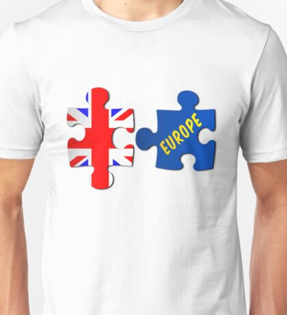 Referendum Jigsaw Puzzle Union Jack and Europe Unisex T-Shirt