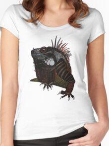 iguana blue Women's Fitted Scoop T-Shirt