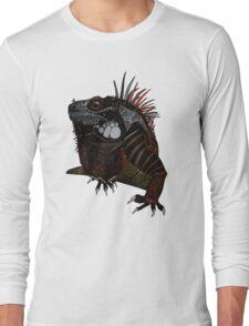 iguana blue Long Sleeve T-Shirt