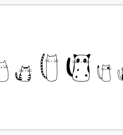 Black and White Cats Sticker