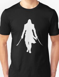Assassin's Creed edward kenway silhouette white Unisex T-Shirt