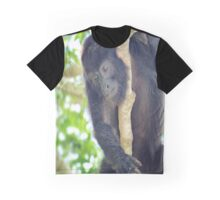 Black Howler Monkey  Graphic T-Shirt