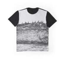 Cormorants on the coast Graphic T-Shirt