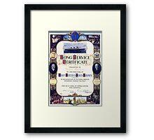 Firth Brown Long Service Award, Sheffield, Yorkshire Framed Print