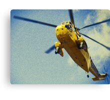 Sea King helicopter fly over Canvas Print