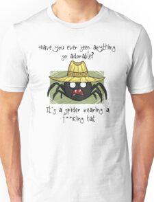 Spider In A Hat - Black Text Unisex T-Shirt