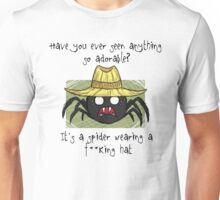 Spider In A Hat - Black Text Unisex T-Shirt