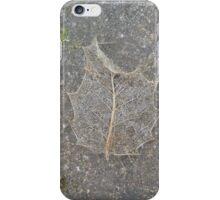 Holly Skeleton Leaf iPhone Case/Skin