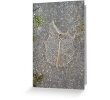 Holly Skeleton Leaf Greeting Card