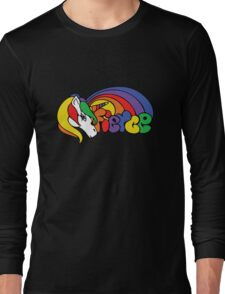 Fierce cute unicorn Long Sleeve T-Shirt