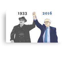 Franklin D. Roosevelt & Bernie Sanders | 1933 2016 Years Canvas Print