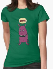 Rawr! Monster Womens Fitted T-Shirt