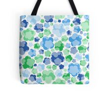 tender blue floral pattern Tote Bag
