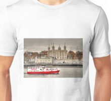 The Little Red Boat and The Tower of London Unisex T-Shirt