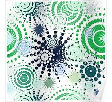 Abstract dot pattern  Poster