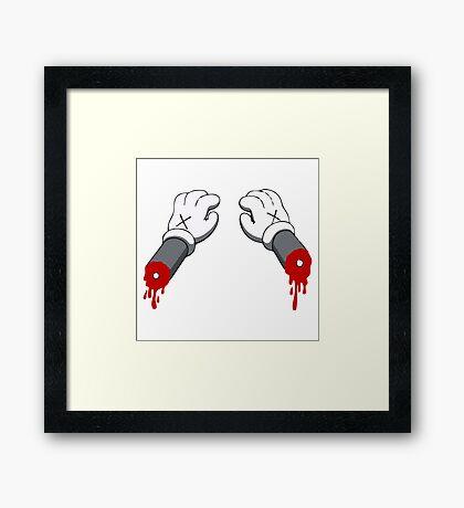 Cut Your Hand Framed Print