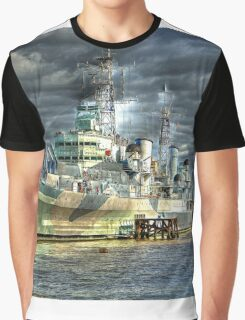 HMS Belfast and Tower Bridge Graphic T-Shirt