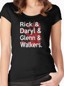 Rick & Daryl & Glenn & Walkers. Women's Fitted Scoop T-Shirt