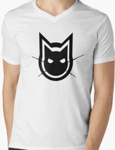Graphics Cat Mens V-Neck T-Shirt