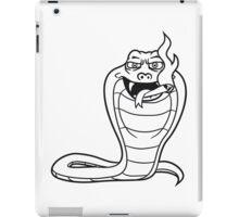 kiffen pothead smoke joint weed cannabis bong cigarette cannabis drug stoned cobra snake funny cool iPad Case/Skin