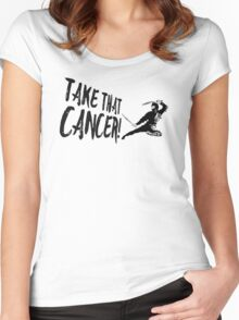 Cancer Ninja Women's Fitted Scoop T-Shirt