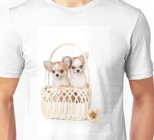 Cute fluffy white dog puppy chihuahua Unisex T-Shirt