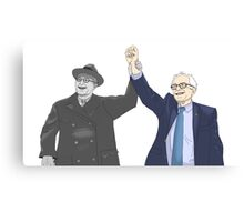 Franklin D. Roosevelt & Bernie Sanders Canvas Print