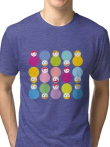 Colourful matryoshka Tri-blend T-Shirt