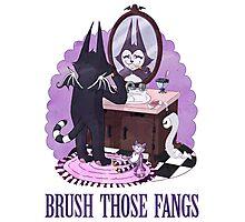 Brush Those Fangs Photographic Print