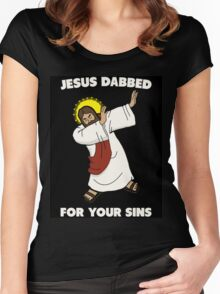 Jesus Dabbed Women's Fitted Scoop T-Shirt