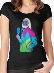 Blue ice Zombie Women's Fitted Scoop T-Shirt