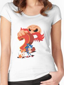 Sonic The Hedgehog 2 Cover Art Women's Fitted Scoop T-Shirt
