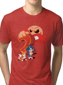 Sonic The Hedgehog 2 Cover Art Tri-blend T-Shirt