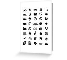 Travel with Iconspeak Shirt Greeting Card