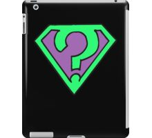 Riddle me this, riddle me that... (V1) iPad Case/Skin