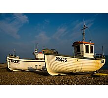 Fishing Boats On The Stade At Hastings Photographic Print