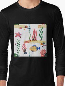 Sea pattern Long Sleeve T-Shirt