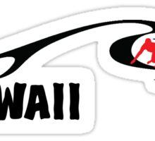 WAVE WAVES SURF SURFING HAWAII SURFBOARD Sticker