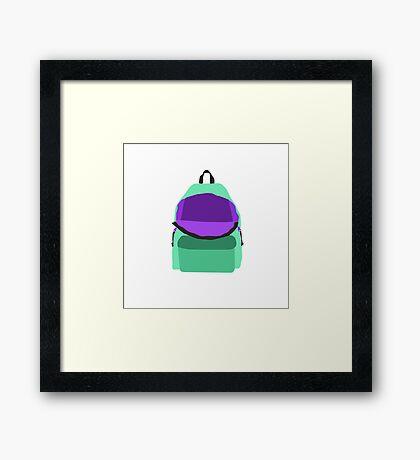 Backpack Framed Print