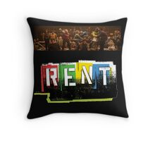 RENT the musical! Throw Pillow