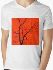 Fire Tree Mens V-Neck T-Shirt