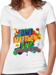 SUMMER TOUR 2016 DAVE MATTHEWS BAND Women's Fitted V-Neck T-Shirt
