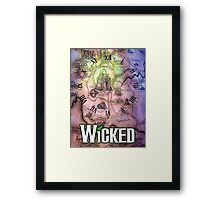 Wicked the musical OZ map Framed Print