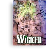 Wicked the musical OZ map Canvas Print