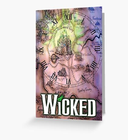 Wicked the musical OZ map Greeting Card