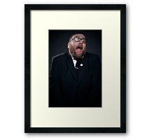 You scared me  Framed Print