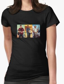 Michael, Franklin and Trevor  Womens Fitted T-Shirt